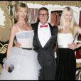 Eva Herzigova, Stefano Gabbana et Claudia Schiffer