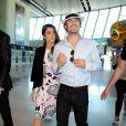 Nikki Reed et Ian Somerhalder - People à l'aéroport de Nice le 22 mai 2015