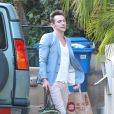 Exclusive - Jonathan Rhys-Meyers à Hollywood, le 23 août 2014.