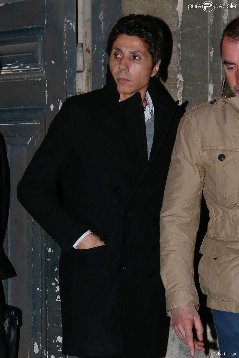 Jean-Luc Lahaye à la sortie du palais de justice de Paris le 23 mars 2015