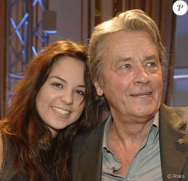 Anouchka et son père Alain Delon