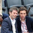 Fréderic Taddeï et son fils Diego - People à Roland-Garros à Paris le 31 mai 2015.