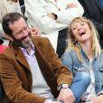 Christian Vadim et sa femme Julia - People à Roland-Garros à Paris le 31 mai 2015.