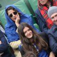 Isabelle Gelinas, Philippe Caroit et sa fille Blanche - People dans les tribunes des Internationaux de France de tennis de Roland Garros à Paris. Le 31 mai 2015. People at the French Tennis Open in Roland Garros in Paris. On may 31, 201531/05/2015 - Paris