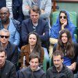 Lucien Jean-Baptiste, Isabelle Gelinas et son compagnon, David Brécourt et sa compagne Alexandra, Philippe Caroit et sa fille Blanche - People à Roland-Garros à Paris le 31 mai 2015.