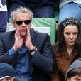 David Brécourt et sa compagne Alexandra - People à Roland-Garros à Paris le 31 mai 2015.