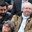 Cyril Hanouna et Jean-Paul Huchon - People à Roland-Garros à Paris le 31 mai 2015.