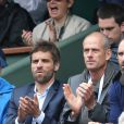 Guy Forget - People à Roland-Garros à Paris le 31 mai 2015.