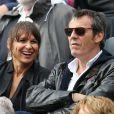 Jean-Luc Reichmann et sa femme Nathalie - People à Roland-Garros à Paris le 31 mai 2015.