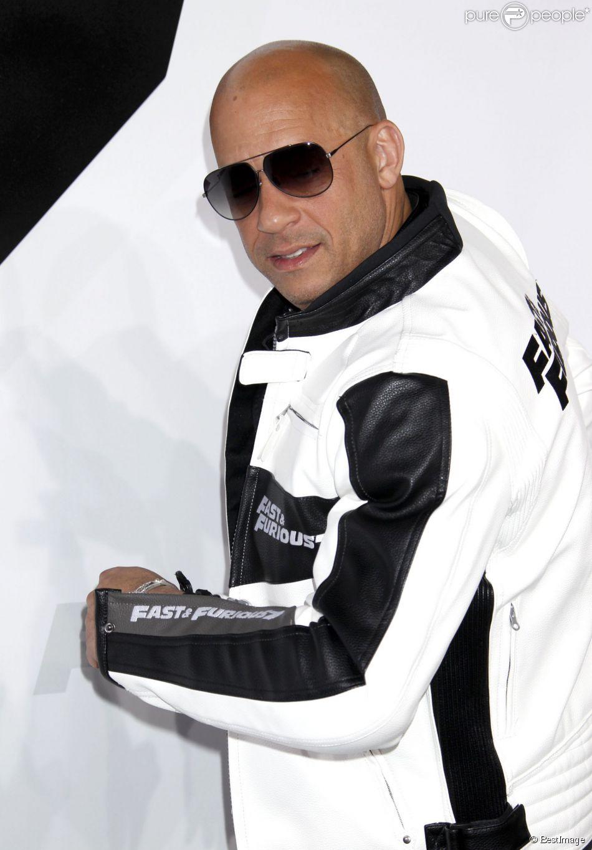 """Vin Diesel lors de l'avant-première du film """"Fast and Furious 7"""" à Hollywood, le 1 avril 2015."""