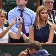 Sylvie Tellier et Camille Cerf à Roland-Garros le 2 juin 2015.