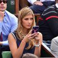 Camille Cerf (Miss France 2015) à Roland-Garros le 2 juin 2015.