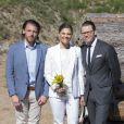 La princesse héritière Victoria et le prince Daniel de Suède en visite sur l'île de Gotland le 27 mai 2015.