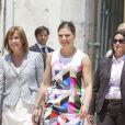 La princesse Victoria de Suède visitait l'Académie des Sciences de Lisbonne, le 4 juin 2015, lors de sa visite officielle de deux jours.