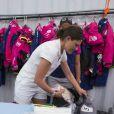 La princesse Victoria de Suède a payé de sa personne pour encourager le Team SCA lors de la Volvo Ocean Race à Lisbonne le 5 juin 2015