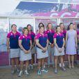 La princesse Victoria de Suède à Lisbonne le 4 juin 2015, au village de la Volvo Ocean Race.
