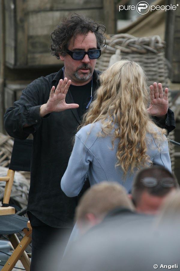 Tim Burton et Mia Wasikowska