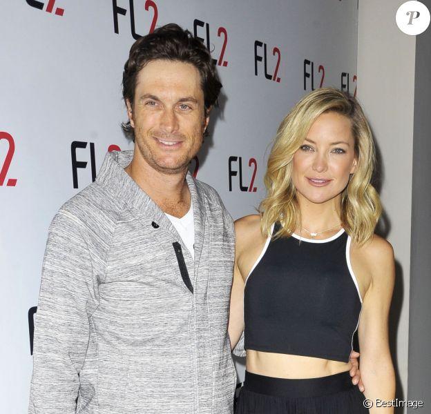 """Kate Hudson et son frère Oliver Hudson assistent à la soirée """"FL2 Launch"""" à New York, le 4 juin 2015."""