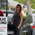 Exclusif - Elisabetta Canalis enceinte se rend à son cours de pilates à Los Angeles, le 27 mai 2015.