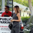 Exclusif - Elisabetta Canalis enceinte à Los Angeles, le 27 mai 2015.