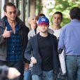 Daniel Radcliffe et sa compagne Erin Darke avec Will Arnett à New York, le 5 juin 2015.