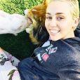 Miley Cyrus et son cochon sur Instagram, avril 2015