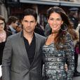 Mikel Arteta et sa femme Lorena à Leicester le 18 avril 2013.