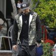 Benji Madden est allé déjeuner avec un ami chez Fred Segal à West Hollywood, le 16 mai 2015