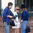 Exclusif - Nicole Richie, qui porte toujours son alliance, est avec une équipe de tournage dans les rues de Los Angeles. Le 11 mai 2015
