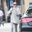 Nicole Richie et Joel Madden ont une discussion très agitée à la sortie du restaurant Pizza Kitchen à Westwood, le 5 mai 2015, où ils se sont brièvement rejoints pour parler avec une femme dont l'identité est encore inconnue.