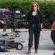 """Jennifer Lopez sur le tournage de la série """"Shade of Blue"""" à New York, le 5 juin 2015."""