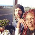 Isabelle Yacoubou et son mari Simone Fulciniti - photo publiée sur le compte Instagram de la joueuse le 23 janvier 2015