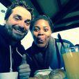 Isabelle Yacoubou et son mari Simone Fulciniti - photo publiée sur le compte Instagram de la joueuse le 23 décembre 2014