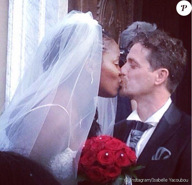 Isabelle Yacoubou et son mari Simone Fulciniti - photo publiée sur le compte Instagram de la joueuse le 15 juin 2014