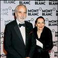 """"""" Christopher Lee et sa femme lors du gala de Montblanc à Chamonix en 2007 """""""