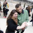 """Stromae au défilé de mode """"Valentino"""" à Paris. Le 10 mars 2015."""