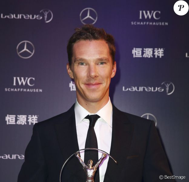 Benedict Cumberbatch à la cérémonie des Laureus World Sport Awards 2015 à Shangai le 15 avril 2015.