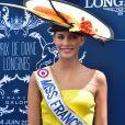 Camille Cerf - Prix de Diane Longines à l'hippodrome de Chantilly le 14 juin 2015.