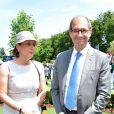 Eric Woerth et sa femme Florence - Prix de Diane Longines à l'hippodrome de Chantilly le 14 juin 2015.