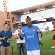 Djibril Cissé lors du Charity Football Game au Grand Stade de Marrakech, le 14 juin 2015