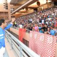 Jamel Debbouze lors du Charity Football Game au Grand Stade de Marrakech, le 14 juin 2015