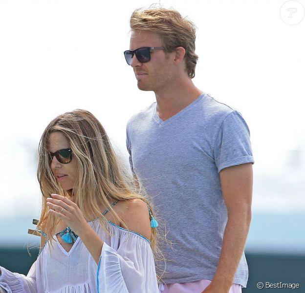 Nico Rosberg et sa femme Vivian, enceinte, en vacances à Ibiza le 13 juin 2015