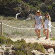 Nico Rosberg et son épouse Vivian, enceinte, lors de leurs vacances à Ibiza, le 13 juin 2015