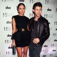 """Olivia Culpo et Nick Jonas à la soirée """"Hyde Bellagio"""" à Las Vegas, le 25 avril 2015"""