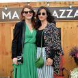 Elodie Frégé et Camélia Jordana, lors de l'ouverture de la Terrazza Martini, à Paris, le 18 juin 2015.