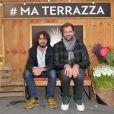 Eric Metzger et Quentin Margot ( Le Petit Journal ), lors de l'ouverture de la Terrazza Martini, à Paris, le 18 juin 2015.