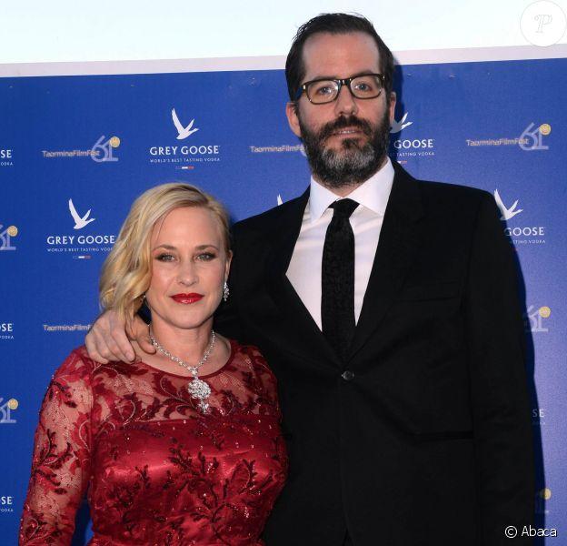 Patricia Arquette et  Eric White lors de la Grey Goose Party au 61e Taormina Film Fest, en Sicile, le 18 juin 2015