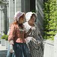 """Exclusif - Marie-Anne Chazel et Annie Grégorio - Tournage du film """"Les Visiteurs 3"""" à Bruxelles le 10 juin 2015"""
