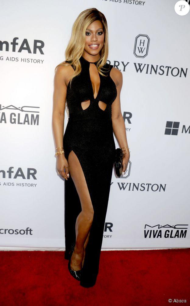 Laverne Cox au gala de l'amfAR à New York, le 16 juin 2015.