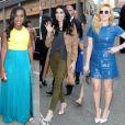 Taylor Schilling, Uzo Aduba, Laura Prepon, Natacha Lyonne et Laverne Cox à l'OrangeCon organisé le  11 juin à New York pour le lancement de la saison 3 d'Orange is the New Black.